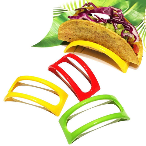 12PCS Colorful Plastic Taco Shell Holder Taco Stand Plate Protector Food Holder Kitchen Food Rack