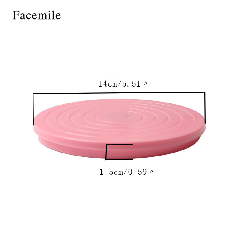 14CM Cake Plate Revolving Decoration Stand Turntable Round Rotating Cake Swivel Pastry Baking Tool