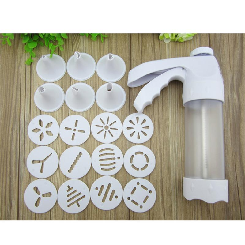 19pcs/set Cream Piping Tool Chocolate Cake Cream Sugarcraft Pastry Icing Syringe Gun Decorating Tool