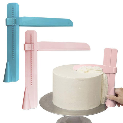 1PC Cake Scraper Adjustable Fondant Spatulas Cake Edge Smoother Mousse Cream Smooth Decorating