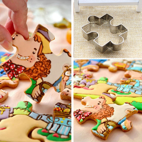 1PC Christmas Cookie Shape Stainless Steel Cookie Cutter DIY Biscuit Mold Dessert Bakeware Cake Mold