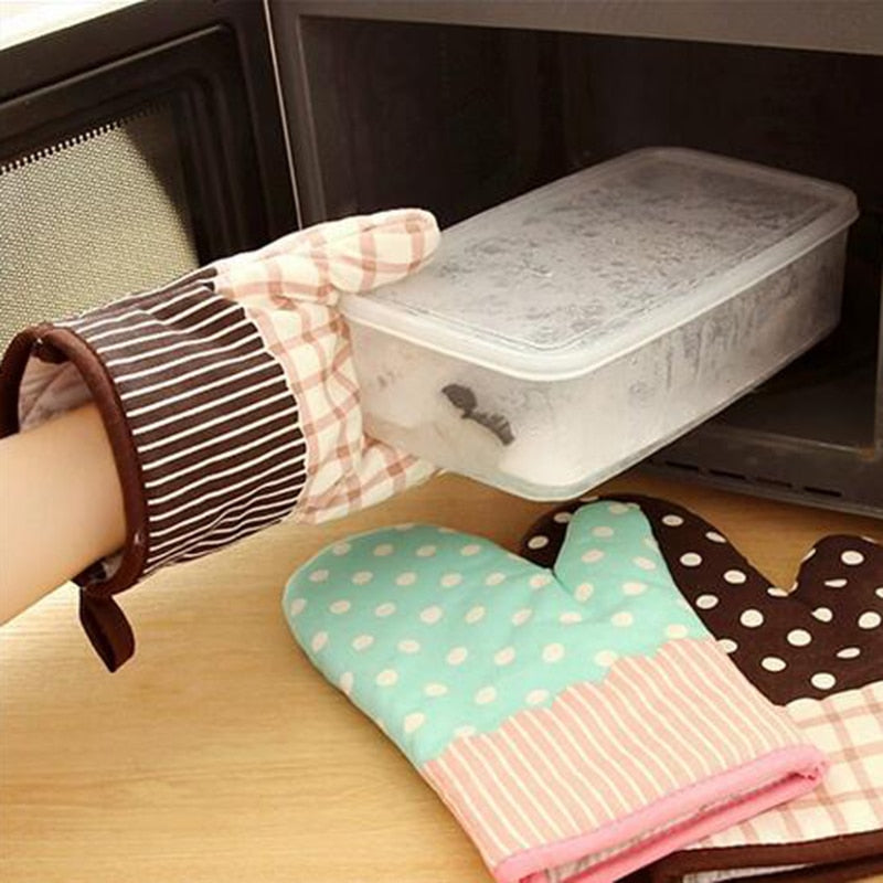 1PC Cute Kitchen Cooking Microwave Oven Mitt Insulated Non-slip Glove Thickening High Temperature