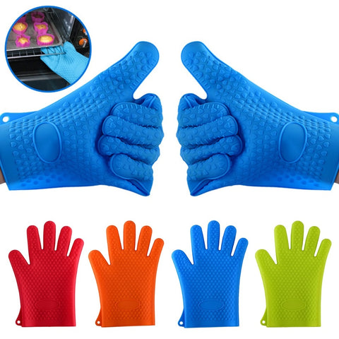 1PC Kitchen Heat Resistant Gloves Silicone Oven Grill Pot Holder Mitt Glove Kitchen Baking Cook