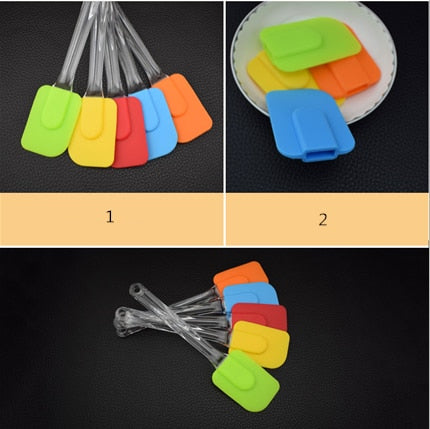 1PC Random Silicone Multi-purpose Scraper Spatula Utensil Cooking Cake Scraper Baking High