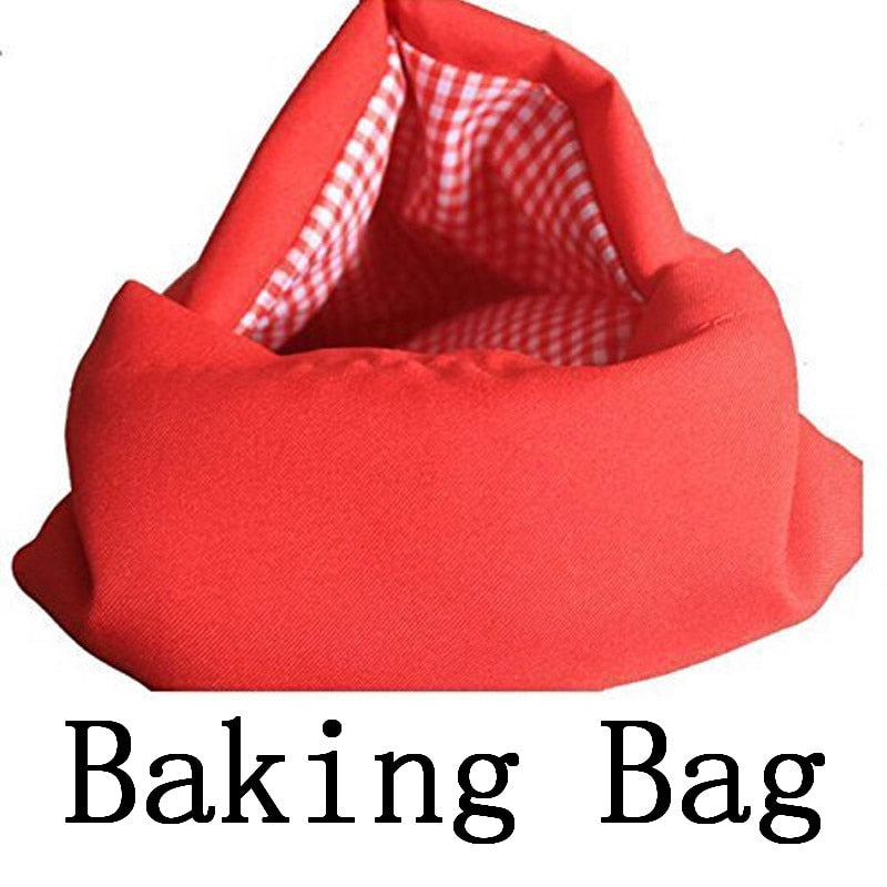 1PCS Microwave Baking Bag For Kitchen Cooking Potatoes lunch Food Bags For Baking Oven Washable