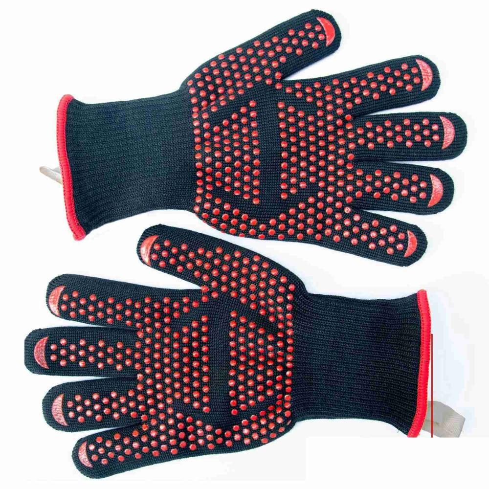 1PCS pieces food grade heat resistant silicone kitchen grill oven gloves cooking barbecue grill