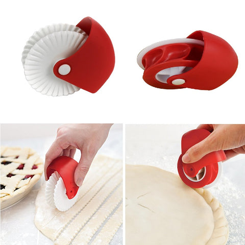 1PCs Pizza Pastry Lattice Cutter Pastry Pie Decoration Cutter Plastic Wheel Roller for Pizza