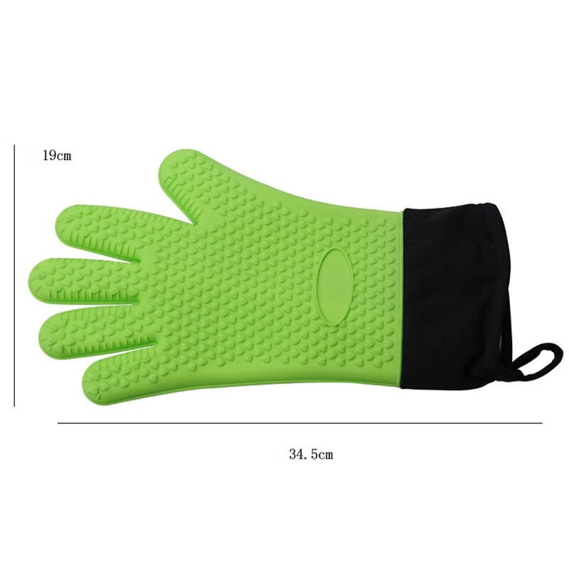 1Pair Silicone Gloves Heat High Temperature Resistant Mitts Glove for Cooking Kitchen Supplies