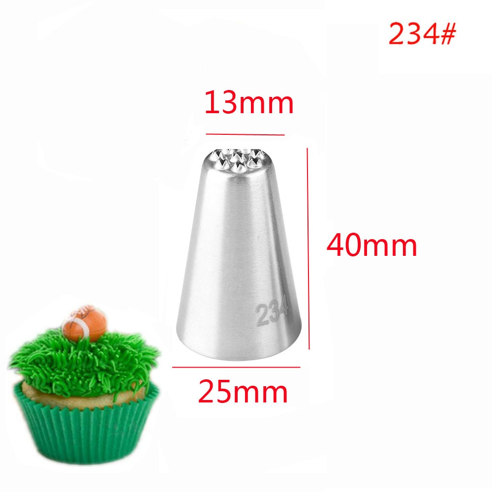 1Pc or 3pcs/set Grass Cream Icing Nozzles Stainless Steel Sugarcraft Decor Cupcake Head Cake