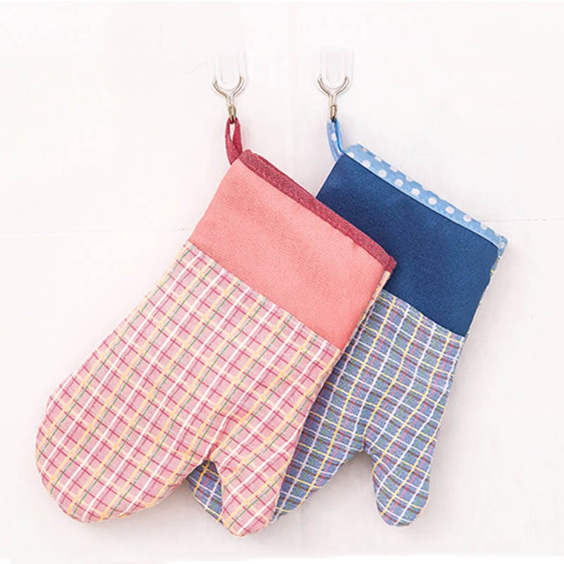 1Pcs Kitchen Accessories Thickening Oven Glove Heatproof Cotton Cooking Tools Microwave Oven Mitt