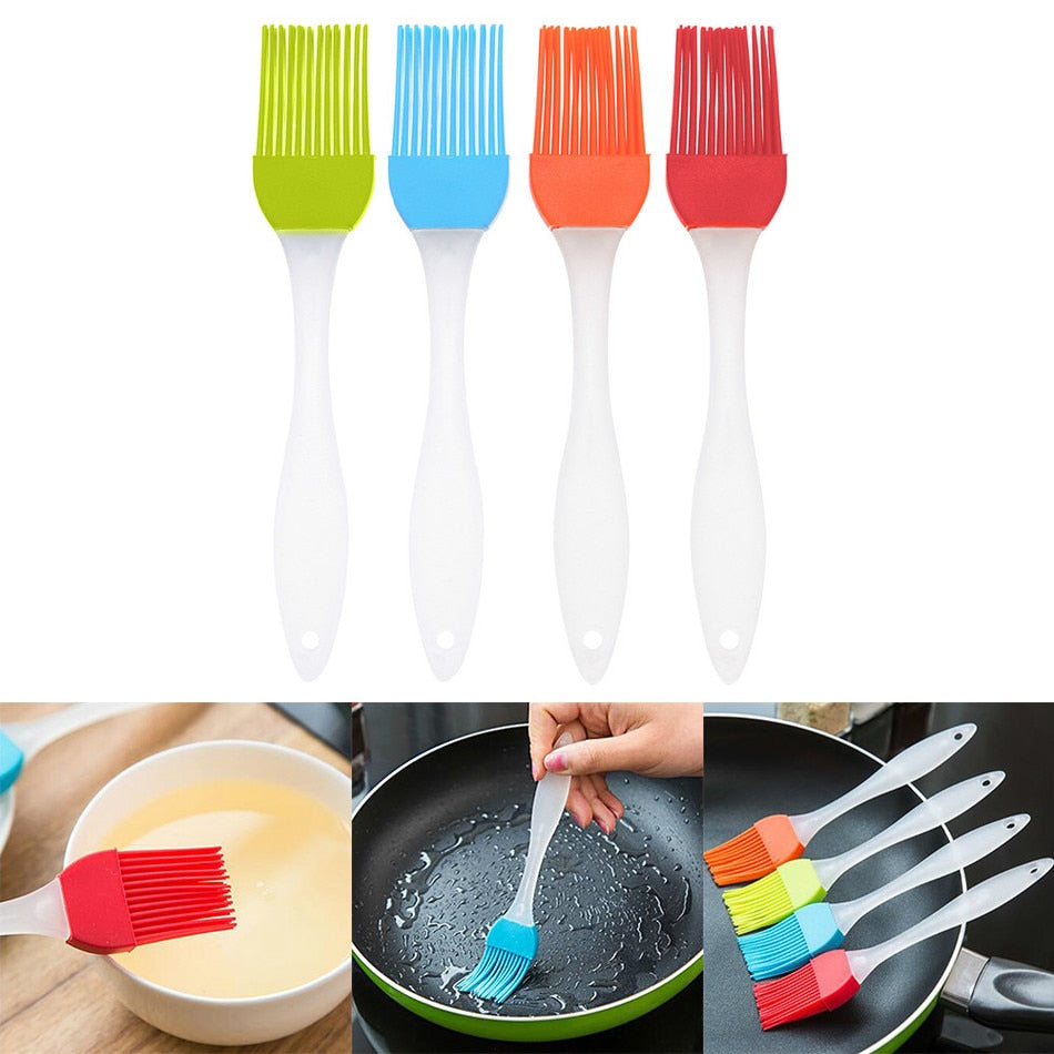 1Pcs Silicone Pastry  Brush BBQ Cake Pastry Bread Oil Cream Cooking Basting Tools Kitchen