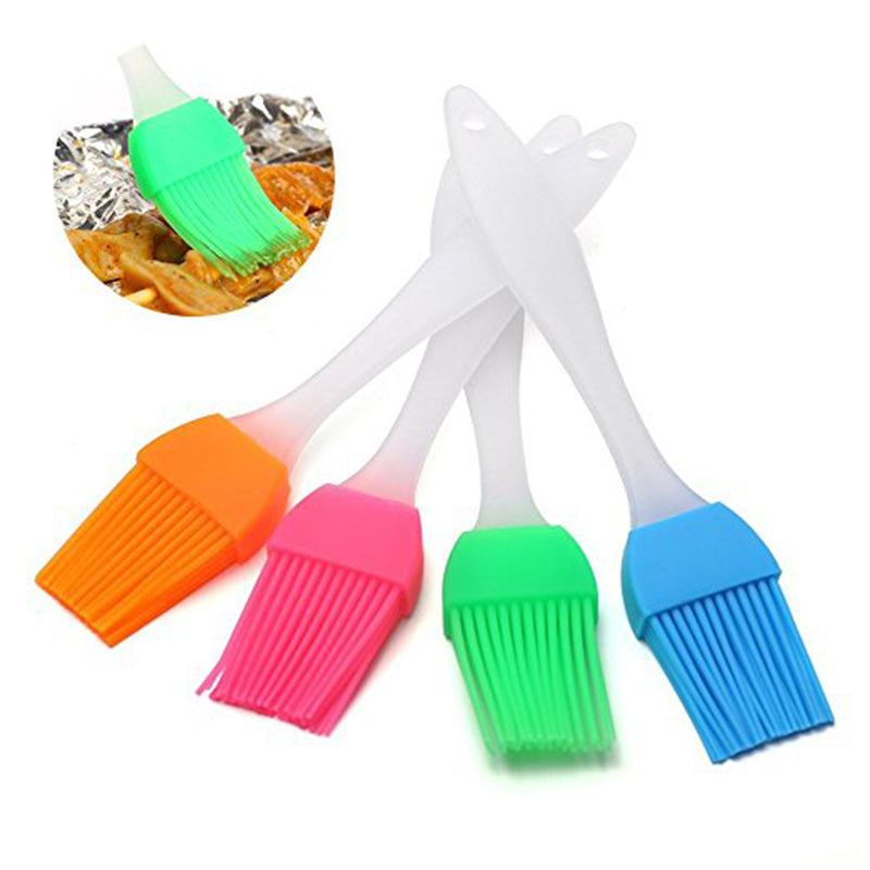 1Pcs Small Silicone Liquid Oil Cake Brush Tools Butter Bread Pastry Brush BBQ Baking Tool