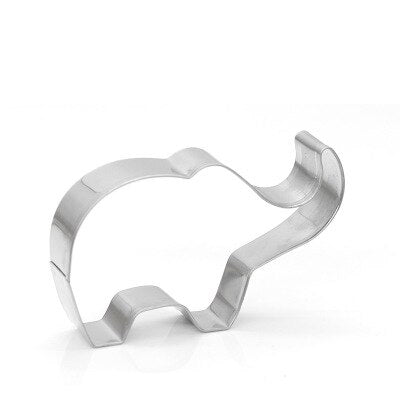 1pc Cookie Cutter Cake Mold 3D Stainless Steel Animal Elephant Shape Cake Fondant Mold Cookie Cutter
