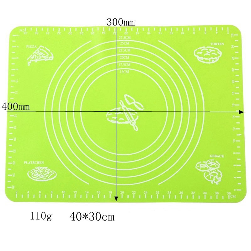1pc Non-Stick Silicone Mat Rolling Dough Liner Pad Pastry Cake  Bakeware Paste Flour Table Sheet