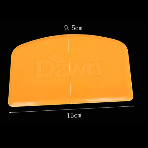 1pcs 15*9.5cm Yellow Flexible Plastic Dough Scraper Cake Spatula Pastry Butter Cutter Baking Cake