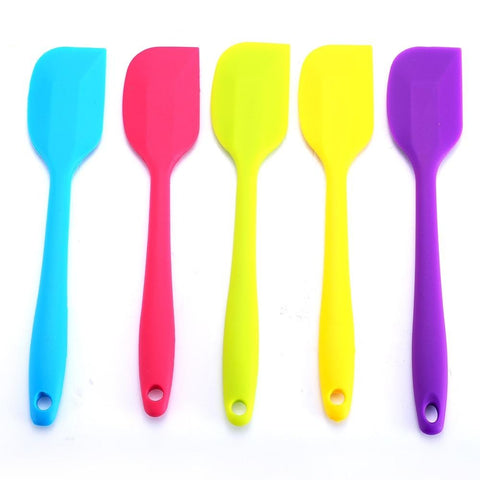 1pcs 27cm Cake Spatula Silicone Spatulas Heat Resistant Flexible Scraping Baking Tool Kitchen