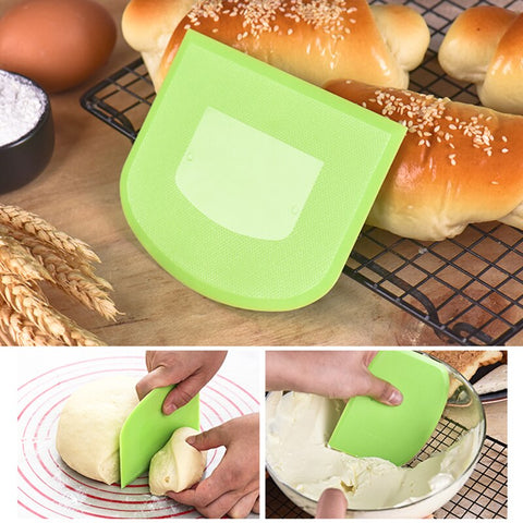 1pcs Hot Sale Cream Smooth Cake Spatula Baking Pastry Tools Dough Scraper Kitchen Butter Knife Dough