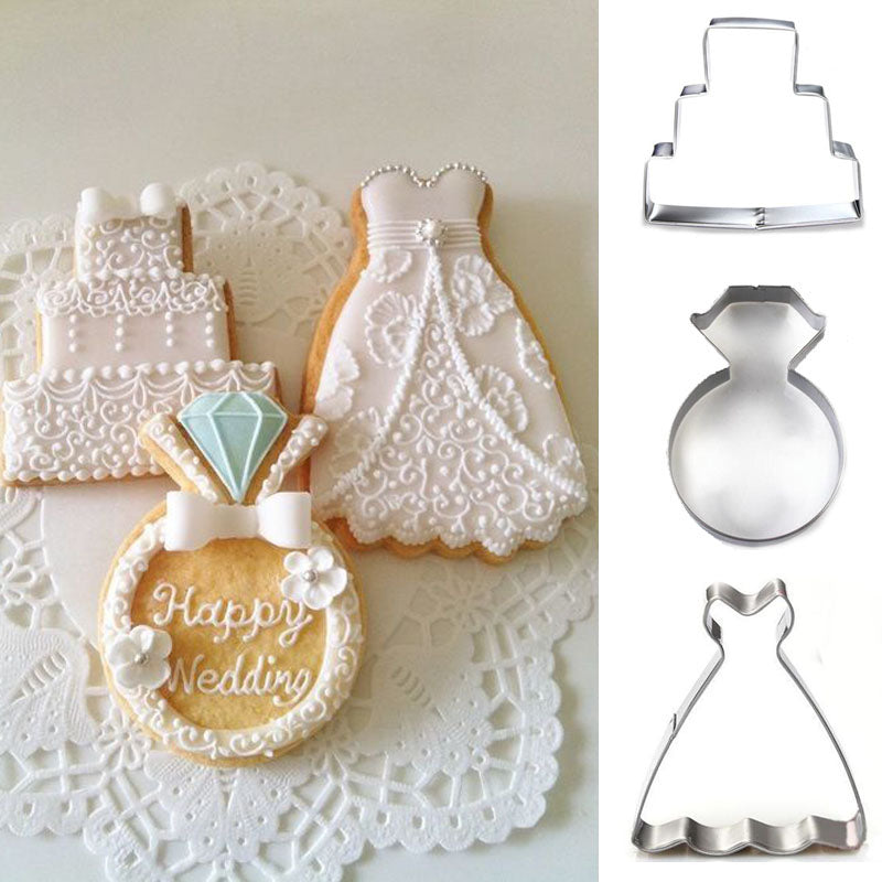 1pcs patisserie reposteria Wedding Metal Cookie Cutters Fondant Cake Decor Tools Cupcake Chocolate