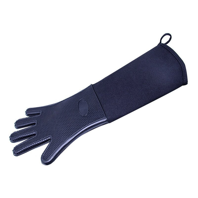 1piece Heat Resistant Oven Mitts Kitchen Baking Cooking Gloves BBQ Grill Gloves with Extra Long