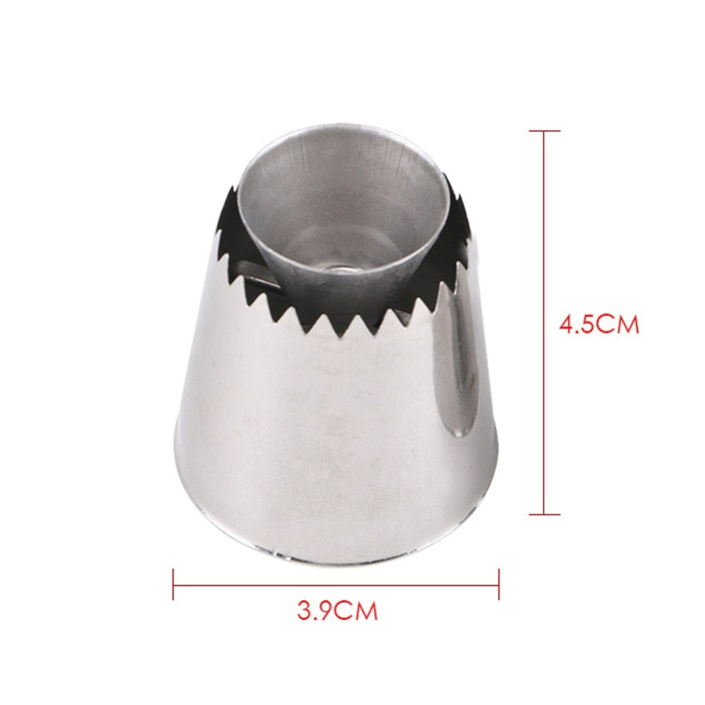 2 Sizes DIY Nozzle Stainless Steel Dessert Cake Decorating Tips Kitchen Accessories Cookie Bis Icing