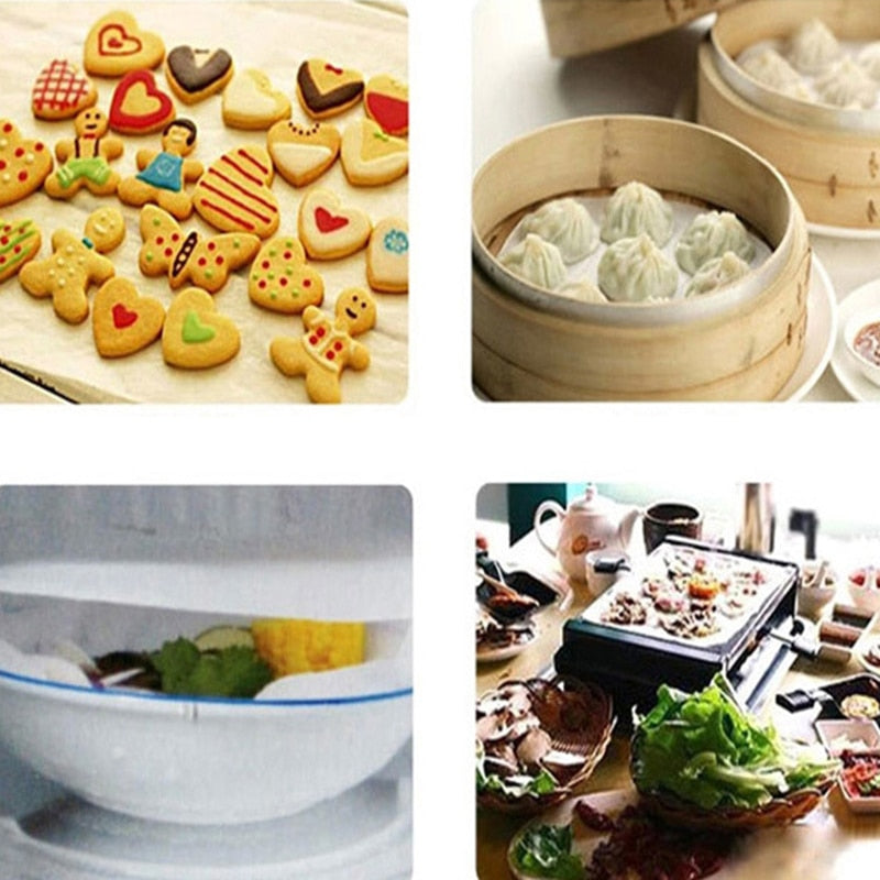 200Pcs Silicone Paper Liners Baking Mats Convenience Safe For Oven Barbecue Grill Silicone Wax Paper