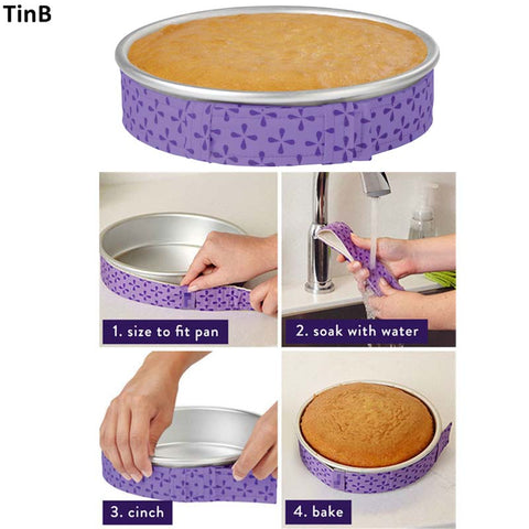 Cake Pan Strips Bake Even Strip Belt Moist Level Cake Decorating Tools Baking Sheet