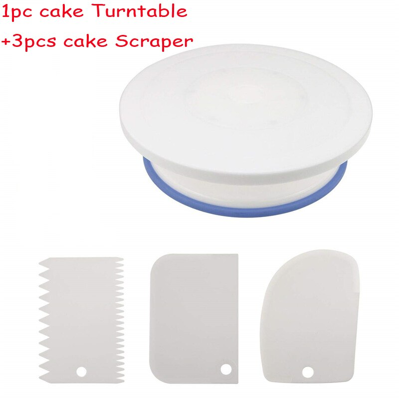 2018 New Plastic Cake Turntable Rotating Cake Plastic Dough Knife Decorating 10 Inch Cream spatula
