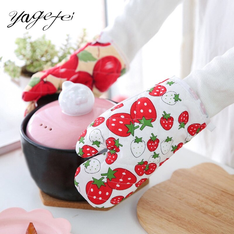 Cooking BBQ Grill Glove Oven Mitt Baking Glove Food Grade Heat Resistant Cotton