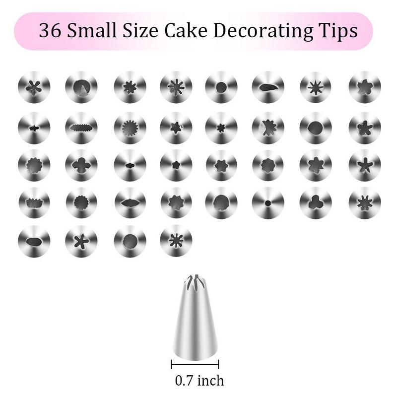 75Pcs/Set Of Decorating Mouth Baking Tool Set Cream Bag Nozzle Nail Scraper Scissors Silk