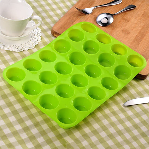 24 Cavity Mini Muffin Cup Cupcakes Mold FDA Silicone Soap Cookies Bakeware Pan Tray Mould Home DIY Cake Tools