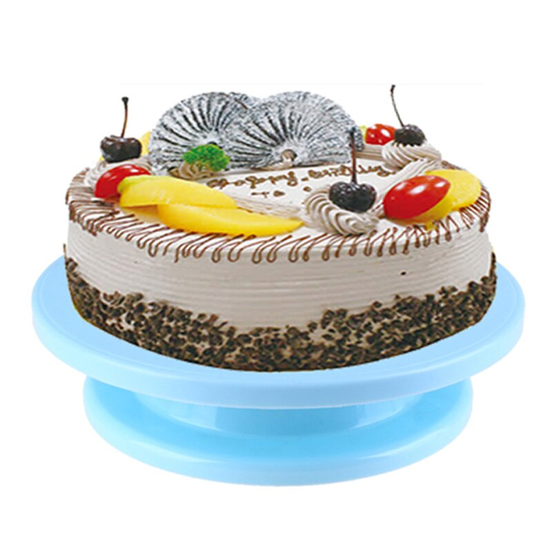 28cm Plastic Cake Turntable Cake Stand Rotating Cake Decorating Turntable Anti-skid Round Cake Stand