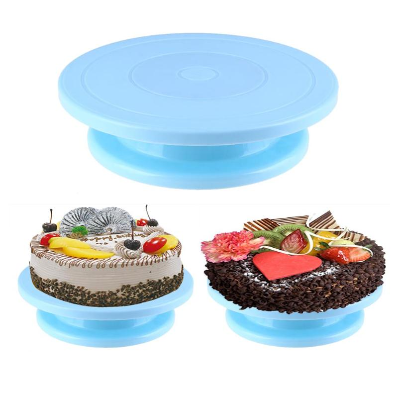 28cm Plastic Cake Turntable Rotating Anti-skid Cake Decorating Turntable Cake Rotary Table Round