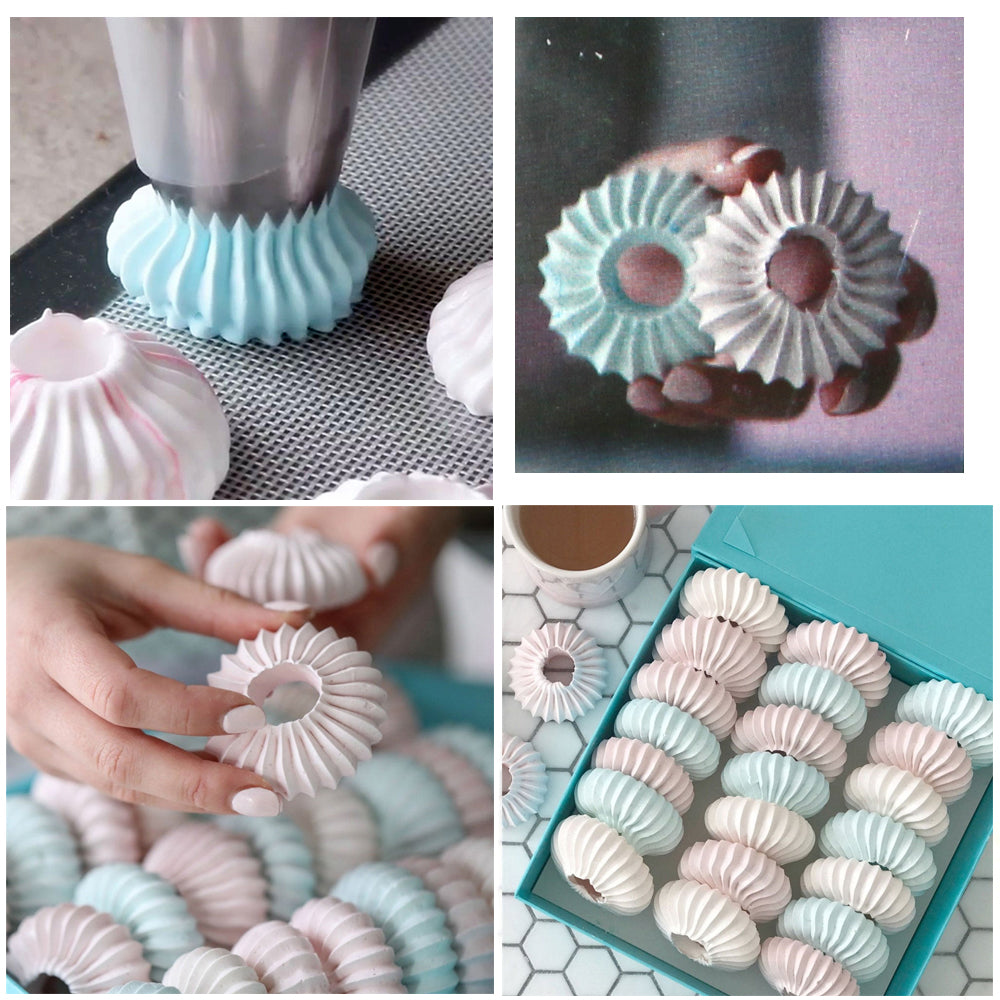 2PCS Plastic Sulta Ne Ring Cookie Mold Icing Piping Nozzles Sultan Tube Pastry Tips Bag Romeo