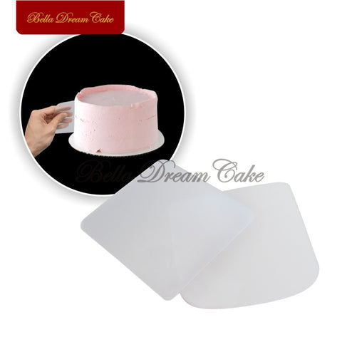 2PCS/Set Cake Smoother Plastic Cream Fondant Scraper Baking Pastry Smooth Spatulas Cake Decorating