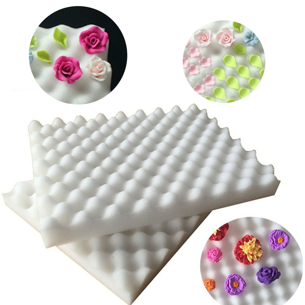2Pcs Drying Fondant Flower Cake Tools Foam Dry Sponge Pads Cake Mold For Kitchen Baking Pastry DIY