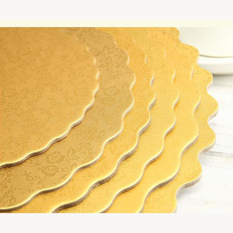 2pc Gold Round Cake Board Circle Base 12inch gold silver Cupcakes stand paper cases liners party