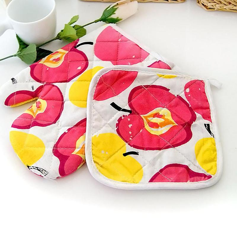 2pcs 50g Linen Convenient and practical fashion Microwave Oven Gloves Set Heat Insulation Mittens