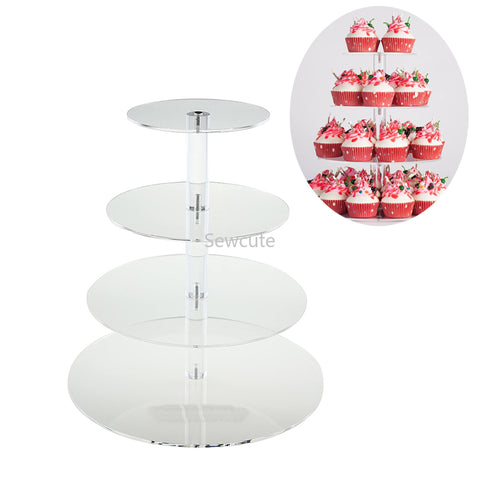 3 4 5 6 7 Tier Cake Holder Round Acrylic Cupcake Cake Stand Assemble