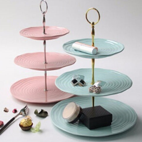 3 Tier Cake Fruit Plate Cake Plate Stand Handle Fitting Tool  Stand Hardware Rod Plate Stand Cake
