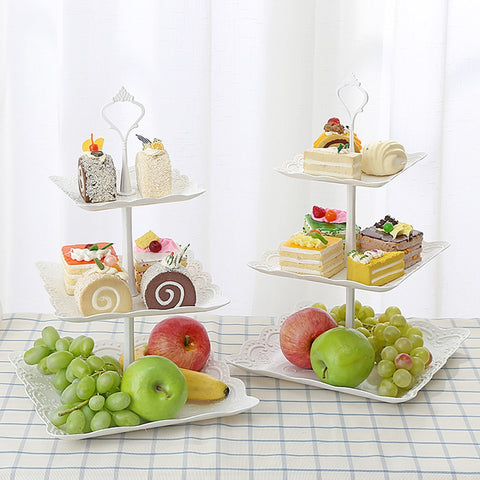 3 Tier Cupcake Stand Wedding Cake Holder Birthday Party Dessert Display Trays Stand Fruit Plate