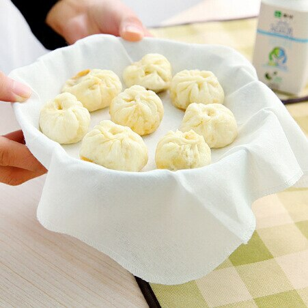 32x32cm Non-Stick Steamer Mesh Pad Round Dumplings Mat For Steamed Stuffed Buns/Bread Pastry Kitchen