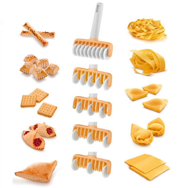 37pcs/set Kitchen Baking Tool Fondant Ribbon Cutter - 4 Different Gears Embosser Set Noodle Dough