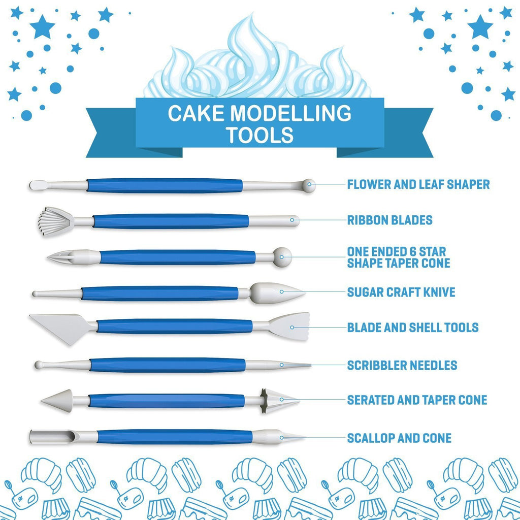 38pcs Cake Modelling Decorating Set Russian Icing Piping Tips Decoration Baking Supplies DIY