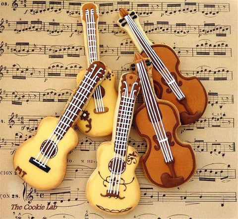 3D Cookie Cutter Fondant Cake Decoration violin Cutter Cake Mold Stainless Steel Cake Decorating