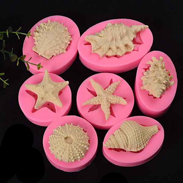 3D Fondant Mold Silicone Ocean World Cake Decoration Baking Moulds for Paste Sugar Cookie