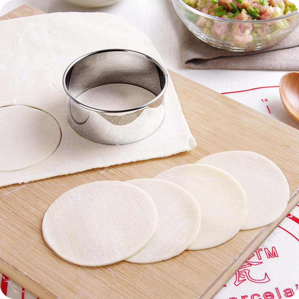 3PCS Stainless Steel Round Dumpling Molds Egg Tarts Dumpling Wrapper Mold Biscuit Cutting Kitchen