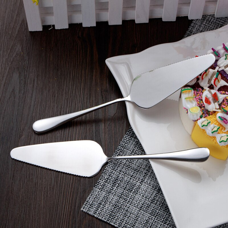 3Type Stainless Steel Serrated Edge Cake Server Blade Cutter Pie Pizza Server Cake Cutter Shovel