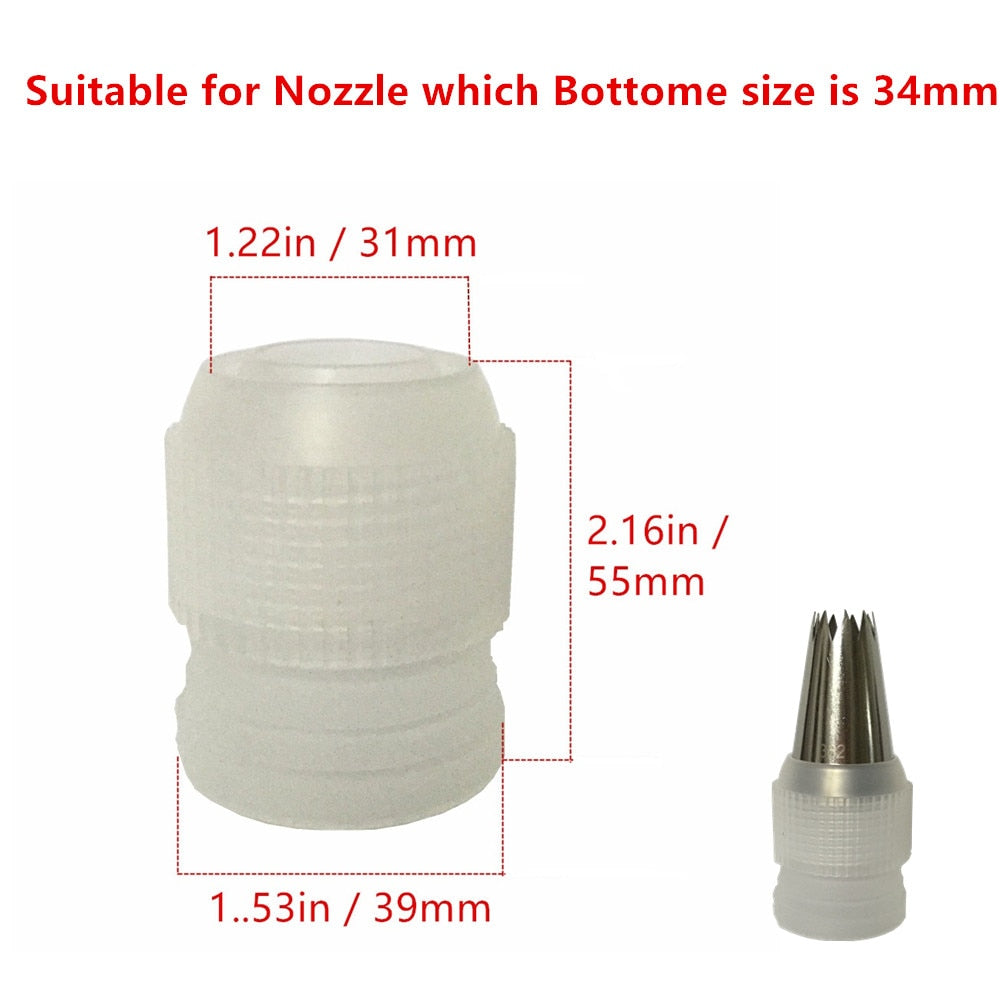 3pcs cing piping bag nozzle converter adapter set cream nozzle pipeline coupler cake decorating tool