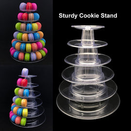 4/6 Tiers Cupcake Display Rack Stand Holder Tools Macaron Tower Cupcake Macaroons Display Cake Stand