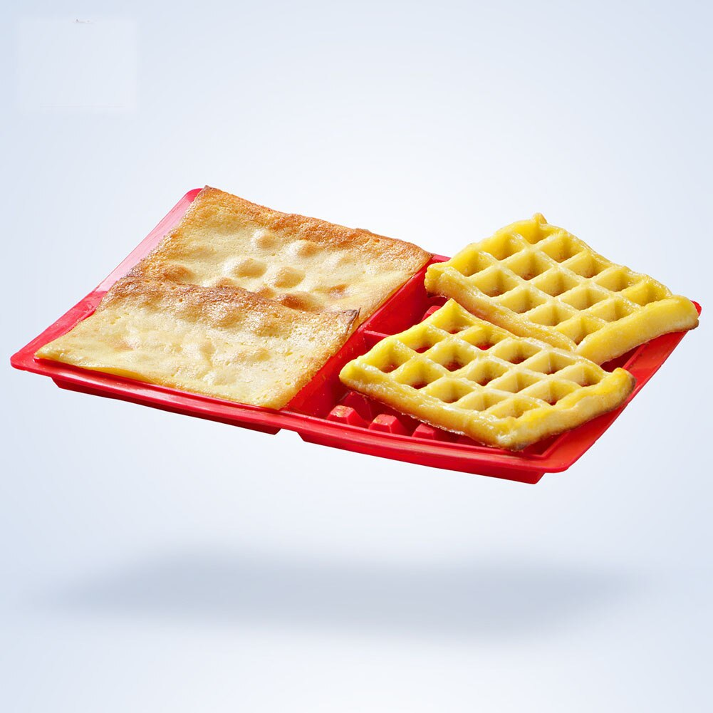 4-Hold Waffle Makers for Kids Silicone Cake Mould Waffle Mould Silicone Bakeware Set Nonstick
